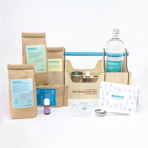Sauberkasten Klassik Set für umweltschonende Reinigungsmittel