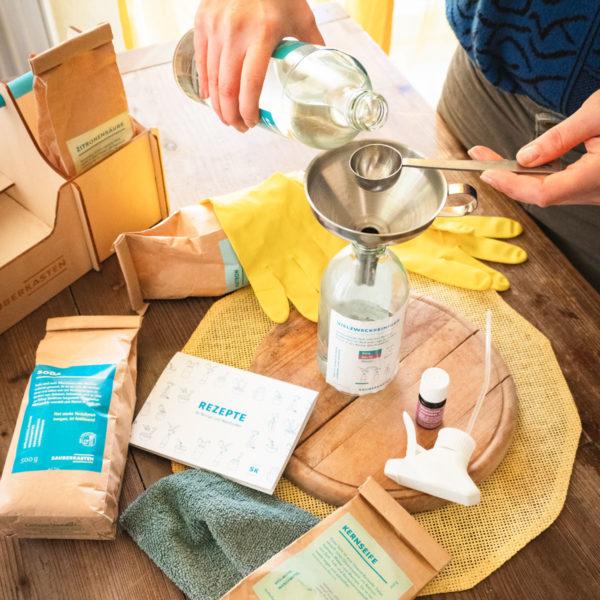 umweltschonende Reiniger und Waschmittel selbst herstellen