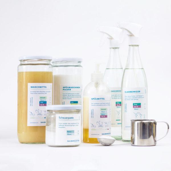 DIY Set für umweltschonende Reinigungsmittel und Waschmittel
