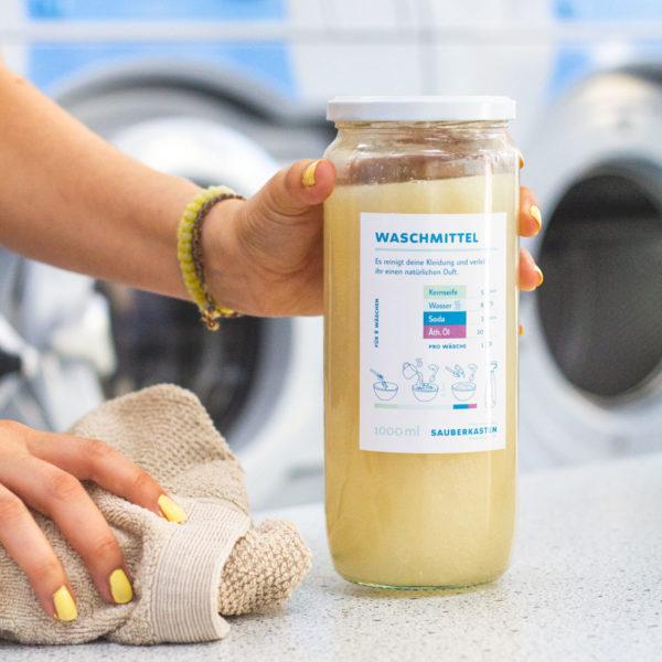 DIY Flüssigwaschmittel von Sauberkasten