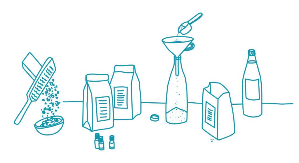 Set für schadstoffreie Reiniger und Waschmittel