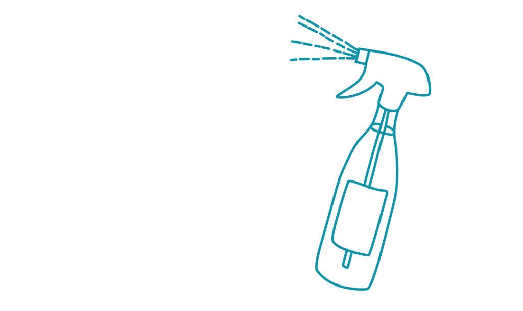 Sprühflasche aus Glas